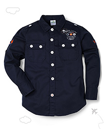 Flight Deck by Babyhug Full Sleeves Shirt - Navy Blue