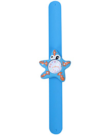 Slap Style Analog Watch Star Fish Design Dial - Blue