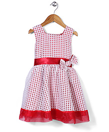 Little Coogie Checkered Dress - Red