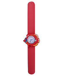 Slap Style Analog Watch Fish Design Dial - Red