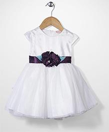 Little Coogie Princess Dress With Flower - Violet
