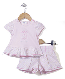 Enfant Top & Shorts Set - Pink