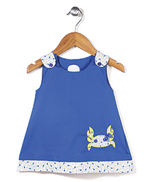 Mini Cupcake Sleeveless Frock Crab Patch - Blue