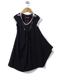 Elle Fashion Party Wear Dress- Black