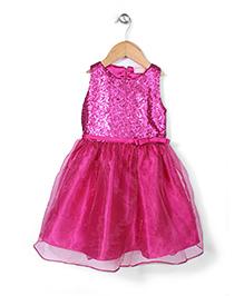 Little Coogie Sequin Party Dress - Dark Pink