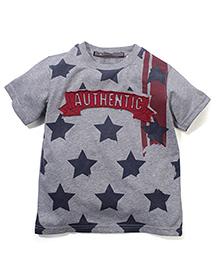 Trombone Authentic Print T-Shirt - Gray