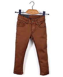 Trombone Stylish Jeans Pant - Dark Brown