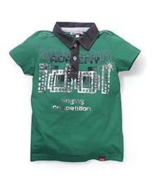 Trombone Printed T-Shirt - Green