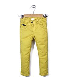 Enfant Stylish Jeans Pant - Yellow