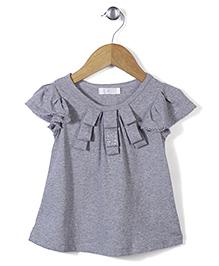 KR Half-Sleeves Top - Grey