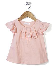 KR Half-Sleeves Top - Coral Pink