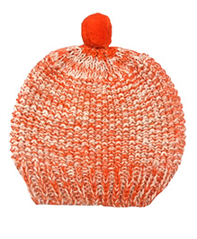 Pluchi Combed Cotton Baby Cap - Orange