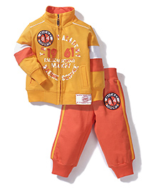 Mickey Full Sleeves Jacket and Track Pant 1961 Print - Yellow and Orange