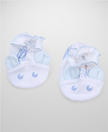 Little Wacoal Moon Print Booties - White & Blue