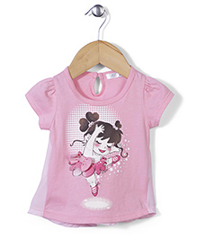 AZ Baby Dancing Girl Print Top - Pink