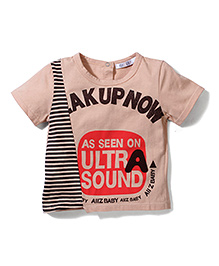 AZ Baby Printed T-Shirt - Brown
