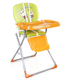 Mee Mee High Chair Teddy Print - Green and Orange