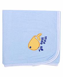 Mee Mee Bath Towel Fish Embroidery PK1 MM 1566 - Blue