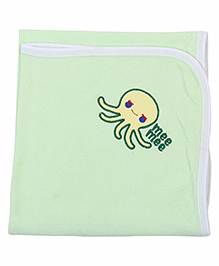 Mee Mee Bath Towel Fish Embroidery PK1 MM 1566 - Light Green