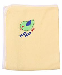 Mee Mee Bath Towel Birdie Embroidery PK1 MM 1566 - Yellow