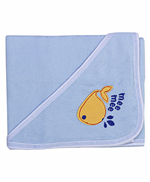 Mee Mee Hooded Bath Towel Fish Embroidery PK1 MM 1567 - Blue
