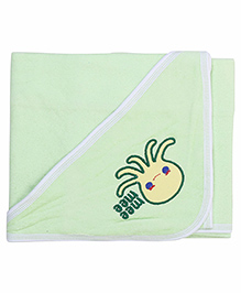 Mee Mee Hooded Bath Towel Octopus Embroidery PK1 MM 1567 - Light Green