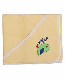 Mee Mee Hooded Bath Towel Birdie Embroidery PK1 MM 1567 - Yellow