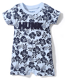 Starter's Flower & Hunk Print Top - Sky Blue