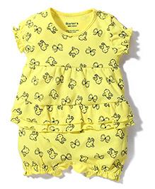 Starters Bird Print Onesie - Yellow