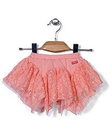 AZ Stylish Short Skirt - Peach