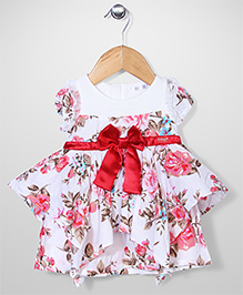 AZ Baby Flower Print Dress - White