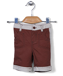 AZ Baby Trendy Half Pants - White & Coffee