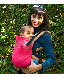 Anmol Baby Ergonomic Bhamini Khaki Carrier - Pink
