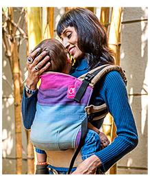 Anmol Baby Ergonomic Khwaish Accent Khaki Carrier - Multicolour