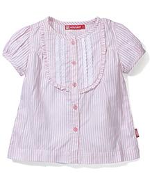 Kids Planet Striped Shirt - Baby Pink