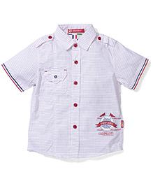 Kids Planet Dot Print Shirt - Light Pink