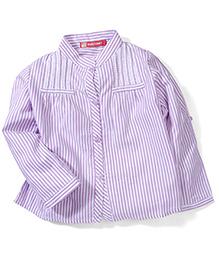 Kids Planet Stripe Print Shirt - Purple