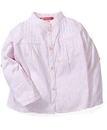 Kids Planet Stripe Print Shirt - Peach