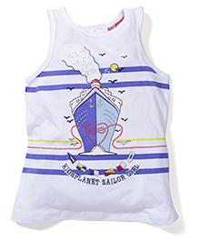 Kidsplanet Anchor Print Tee - White