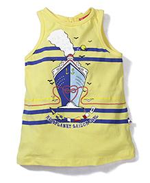 Kidsplanet Anchor Print Tee - Yellow