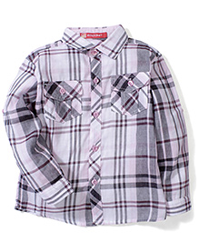 Kidsplanet Checkered Shirt - Purple & Grey