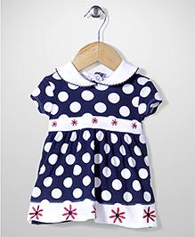 Wonderchild Polka Dot Print Dress - Navy Blue