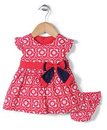 Wonderchild Star Print Frock & Bloomer Set - Red