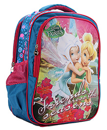 Disney Fairies School Backpack Blue And Pink - 16 inches