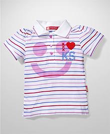 Kidsplanet Stripe Print T-Shirt - Pink