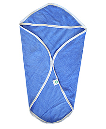 Mom's Home Super Soft Baby Hooded Organic Towel - Blue