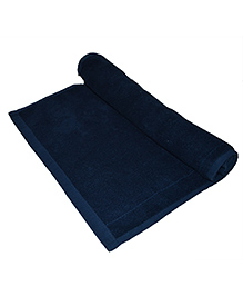 Mom's Home Super Soft Organic And Bamboo Kids Bath Towel - Navy  Blue