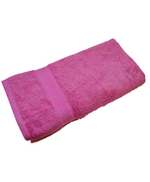 Mom' Home Super Soft Organic And Bamboo Kids Bath Towel - Pink
