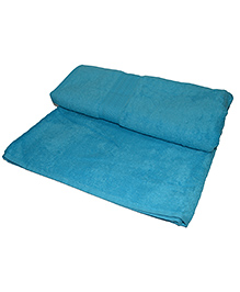 Mom' Home Super Soft Organic And Bamboo Kids Bath Towel -  Aqua