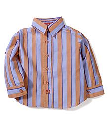 KIdsplanet Stripe Print Shirt - Orange & Blue